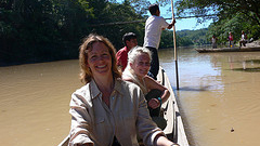 Canoe  journey on the Rio Bobonaza in Ecuador