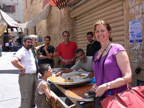 Heather in the souk in Sidon, Lebanon