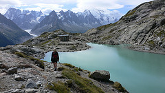 Postcard shot of Lac Blanc, French Alps