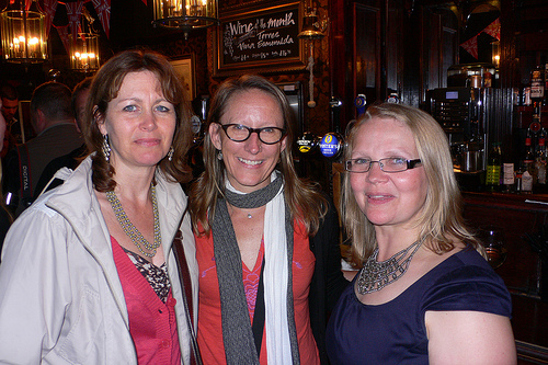 Heather Cowper, Sherry Ott of Ottsworld and Debbi Hindle from Four BGB