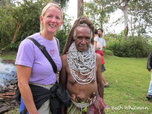 Beth Whitman in Papua New Guinea Copyright Beth Whitman