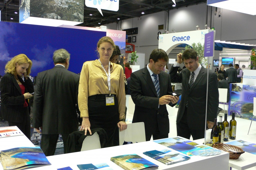 The Zakynthos stand at the World Travel Market