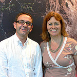 Heather Cowper and Jaume Marin at TBEX