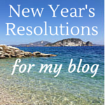 New Year's Resolutions for my blog