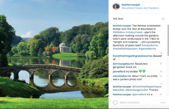 Stourhead Instagram